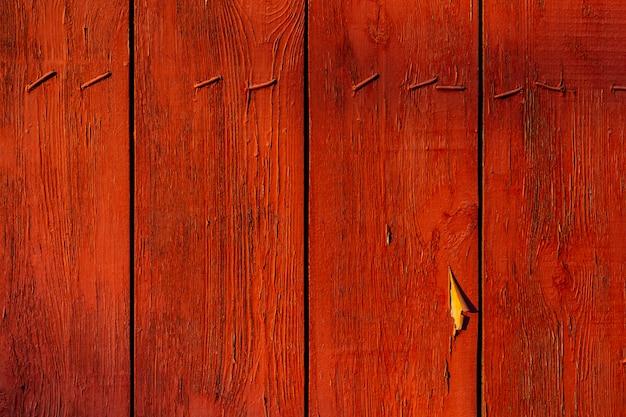 Vieux fond de texture de planche de bois peint couleur terre cuite marron
