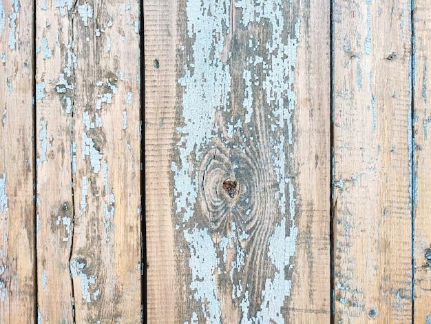 Vieux fond texturé de planche de bois peint patiné