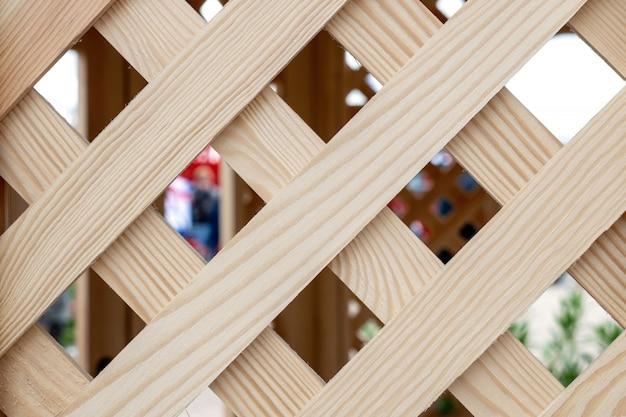 Vieux fond de treillis en bois