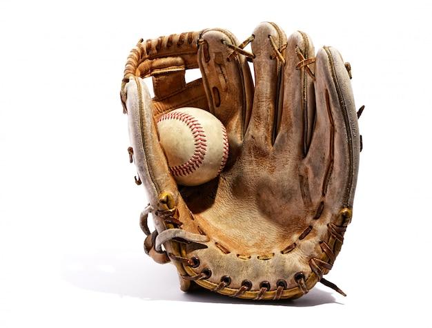 Vieux gant de baseball en cuir vintage