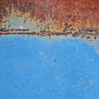Vieux métal rouille bleu texture