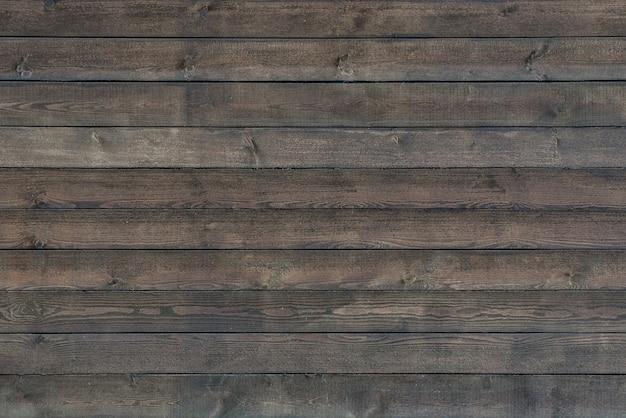 Vieux mur en bois. fond en bois foncé avec texture rugueuse.
