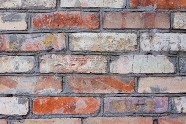 Vieux mur de brique fond closeup