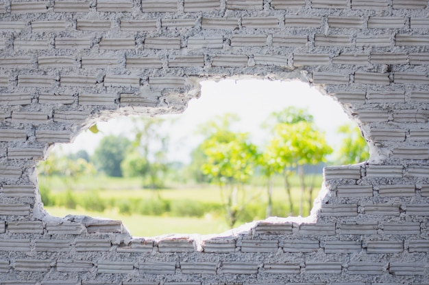 Vieux mur de briques blanches utilisé comme arrière-plan