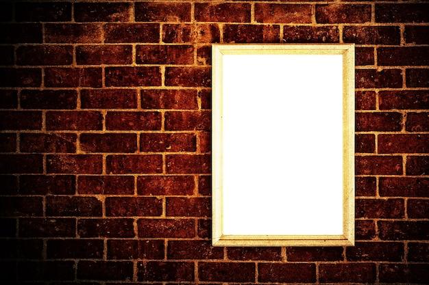 Vieux mur de briques avec cadre vierge