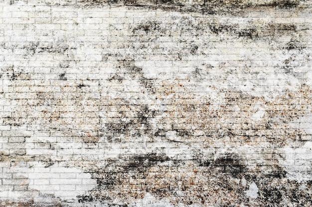 Vieux mur de briques avec fond de texture blanc.