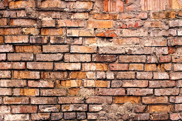 Vieux mur de briques grunge