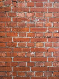 Vieux mur de briques rouges fond vintage