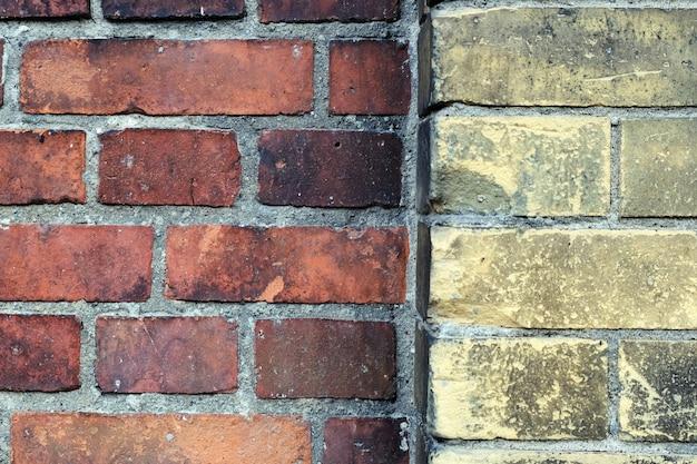 Vieux mur de briques rouges vintage. abstrait loft architectural
