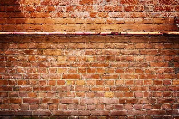 Vieux mur de briques, texture grunge pour le fond, style urbain