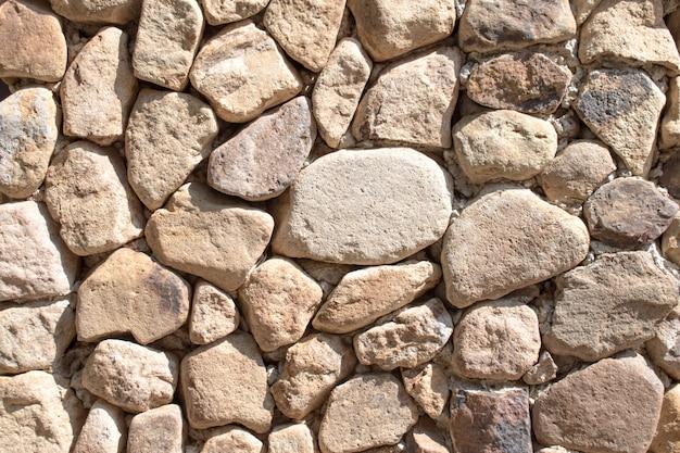 Vieux mur de pierre aménagé à fond