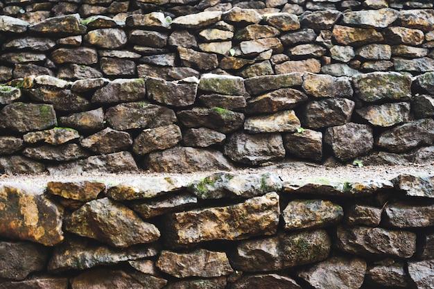 Vieux mur de pierre, fond de mur de pierre naturel
