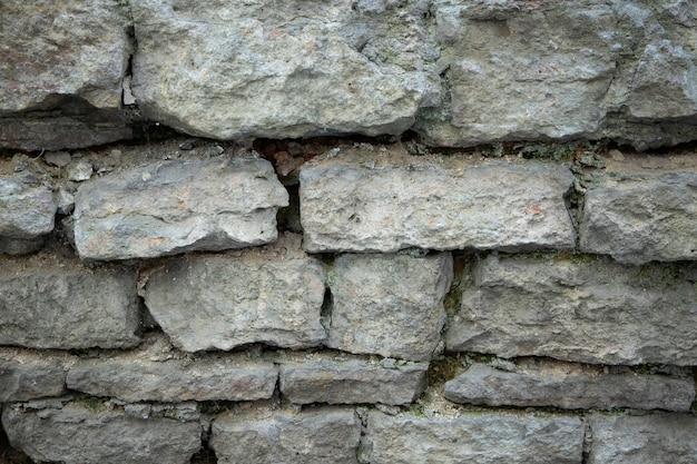 Vieux mur de la ville en briques de pierre