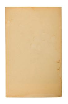 Vieux papier sur blanc