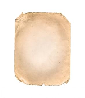 Vieux papier isolé sur blanc
