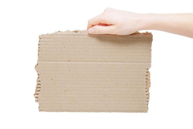 Vieux papier isolé sur fond blanc