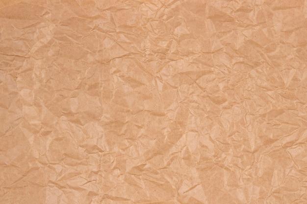 Vieux papier kraft brun froissé texture