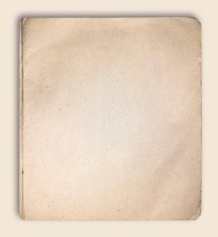 Vieux papier texturé vierge marron pour cadre de texte
