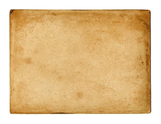 Vieux papier utilisé texture isolated on white