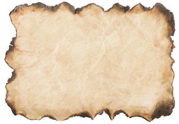 Vieux papier vintage âgé ou texture sur fond blanc
