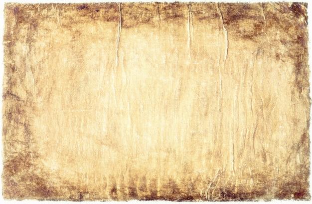 Vieux papier vintage vieilli ou texture sur fond blanc