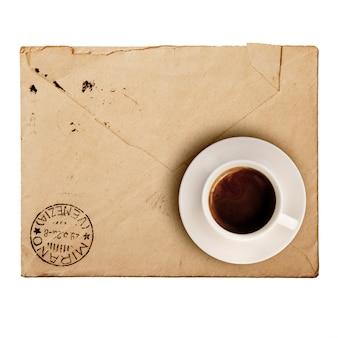 Vieux paquet vintage pour la correspondance