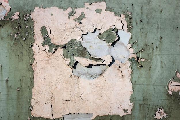 Vieux peaux de peinture rouillées