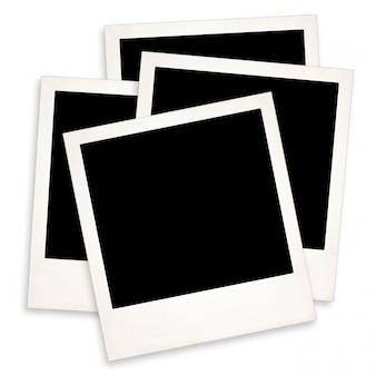 Vieux polaroid sur blanc