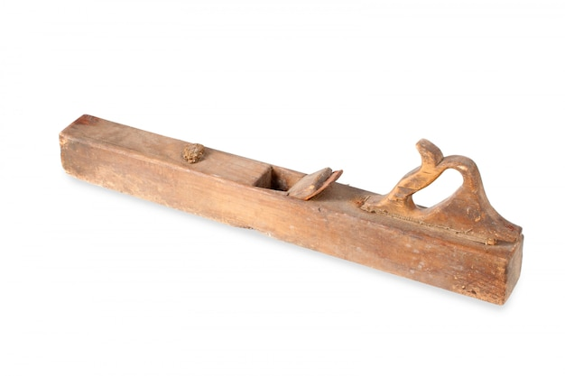 Vieux rabot en bois vintage