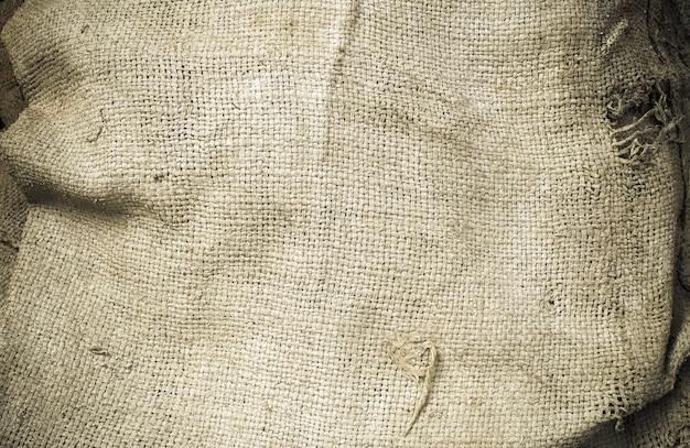 Vieux sac de chanvre grunge, utilisé pour la texture et l'arrière-plan
