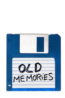 Vieux souvenirs de disquette d'ordinateur