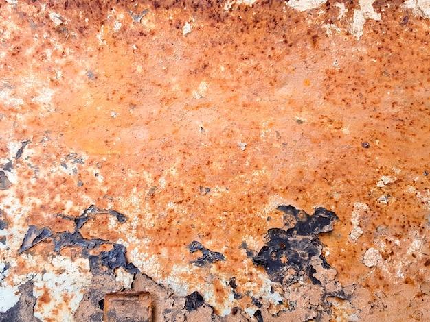 Vieux texture de peinture écaillée en acier rouillé