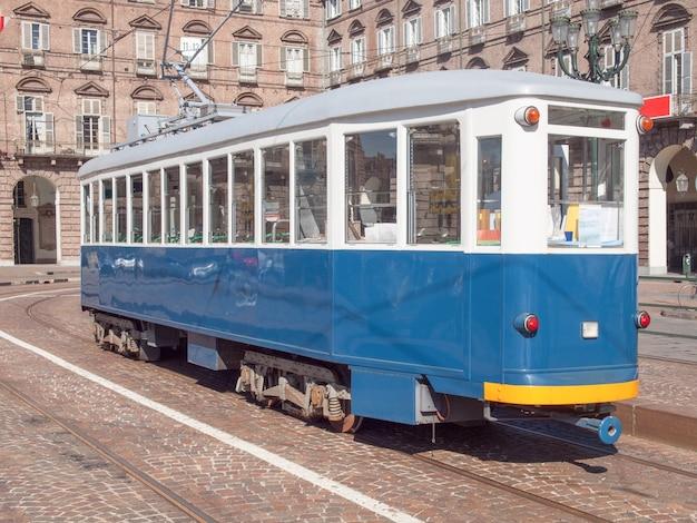 Vieux tramway à turin