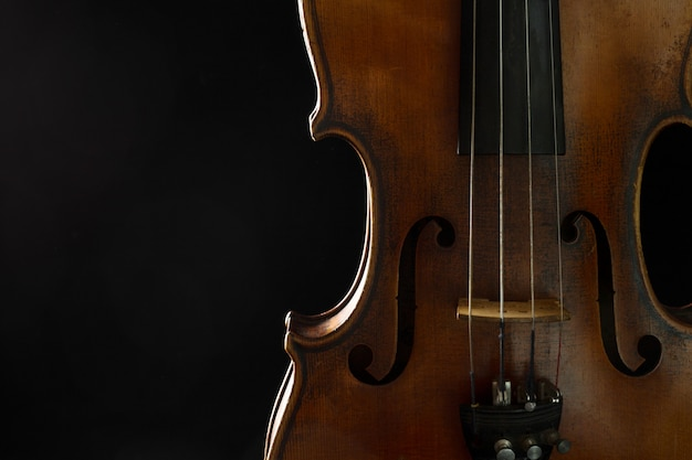 Vieux violon close-up