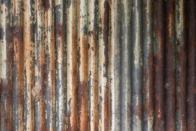 Vieux zinc rouillé