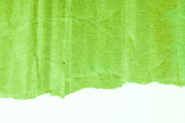 Vignette de fond papier carton vert