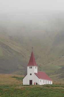 Vik christian church dans l'islande rurale