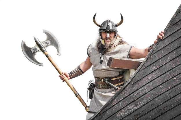 Viking fort sur son navire