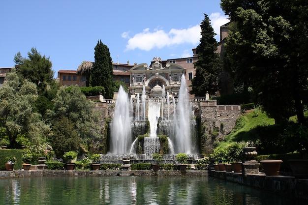 Villa d'este à tivoli, italie