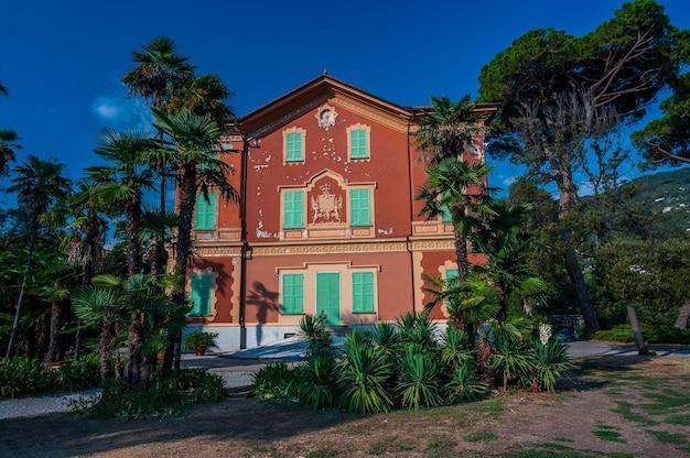 Villa tigullio, site du musée de la dentelle à rapallo sur la riviera italienne