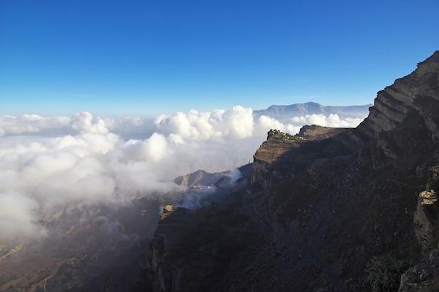 Village d'al-mahwit dans les montagnes, yémen