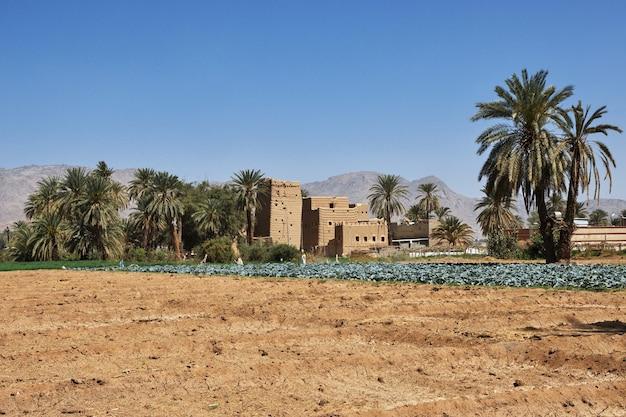 Le village arabe près de najran en arabie saoudite