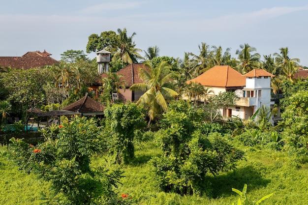 Village asiatique dans la jungle.