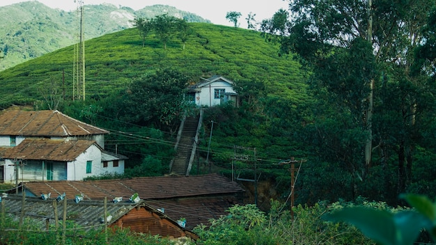 Village dans western ghats mountain