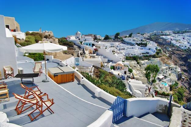 Village de fira, île de santorin. grèce