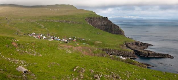 Village de l'île mykines, îles féroé