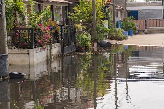 Village d'inondation dans le district de don mueang