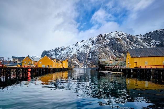 Village de pêcheurs de nusfjord en norvège