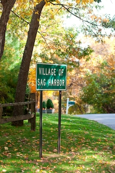 Village de sag harbor signe dans les hamptons