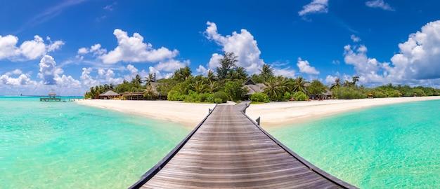 Villas sur l'eau aux maldives
